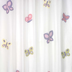 Sweet Jojo Designs - Sweet Jojo Designs Pink and Purple Butterfly Kids Shower Curtain - Add a touch of style and a splash of color to your bathroom with this designer shower curtain. Pair with coordinating Sweet JoJo Designs room accessories to complete the look and feel of your favorite theme. ***Shower Hooks and Liners Not Included