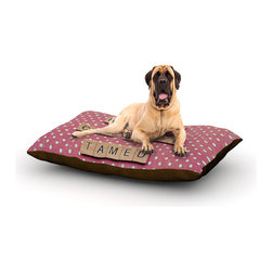 "Kess InHouse - Nastasia Cook ""Wild Hearts Can't Be Tamed"" Pink Dots Fleece Dog Bed (50"" x 60"") - Pets deserve to be as comfortable as their humans! These dog beds not only give your pet the utmost comfort with their fleece cozy top but they match your house and decor! Kess Inhouse gives your pet some style by adding vivaciously artistic work onto their favorite place to lay, their bed! What's the best part? These are totally machine washable, just unzip the cover and throw it in the washing machine!"