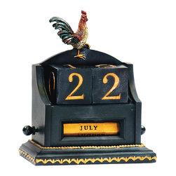 Rooster Date Keeper - *Dimensions: 4.5L x 2.5W x 5.5H