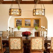 Mediterranean Dining Room by Smith Firestone Associates