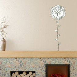 Floral Flower Vinyl Wall Decal FloralFlowerUScolor010; 12 in. - Vinyl Wall Decals are an awesome way to bring a room to life!