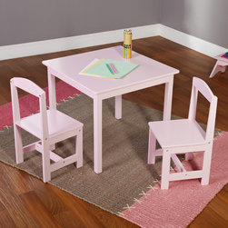 Simple Living - Simple Living Pink 3-piece Hayden Kids Table/ Chair Set - This lovely pink kids table and chair set is the perfect choice for kids to do arts and crafts,play with their favorite toys,tea parties and more. The adorable table will go perfectly in your child's room and is easy to clean.