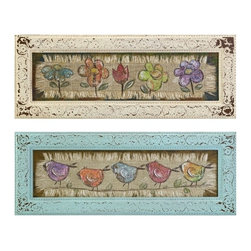 """IMAX CORPORATION - Ellen Framed Art - Assorted 2 - Ellen Framed Art. Assortment of 2 paintings in varying sizes measuring approximately 11.25-11.25""""H x 30.25-30.25""""W x 1-1"""" each. Shop home furnishings, decor, and accessories from Posh Urban Furnishings. Beautiful, stylish furniture and decor that will brighten your home instantly. Shop modern, traditional, vintage, and world designs."""