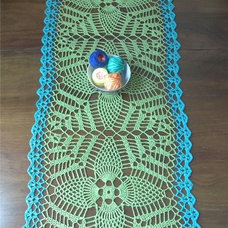 Eclectic Tablecloths Hemp Blend Table Runner by Fuzzy Lumpkin Crochet