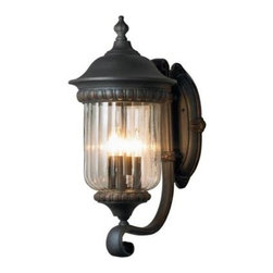 Unbranded - Unbranded Oakville Collection 1-Light Outdoor Small Rust Sconce 12905-027 - Shop for Lighting & Fans at The Home Depot. Solid weather resistant iron framework defines the Oakville collection. Scroll designs boldly accentuate each frame of clear glass in this visionary creation. Mounting hardware included for quick installation.