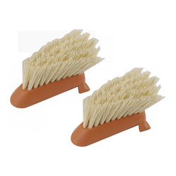 Full Circle - Full Circle Laid Back Dish Brush Replacement Heads - 24 Pack - Food particles and grime are not a match for this dish brush. Wash your plates and pots using a bamboo scrubber with a plant-based plastic head that is 100 percent biodegradable and tough on dirt.