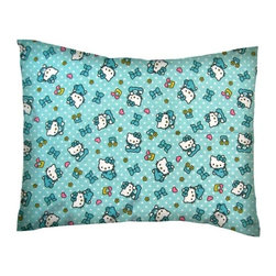 SheetWorld - SheetWorld Twin Pillow Case -Flannel Pillow Case - Hello Kitty Blue-Made in USA - Twin pillow case. Made of an all cotton flannel fabric. Side Opening. Features the one and only Hello Kitty!