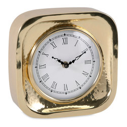 IMAX Imports - Essentials Celebrations Gold Clock - Times spent with family and friends are precious. A nod to the halcyon days of memory symbolized in gold and white, the Essentials Clock from the Celebrations Collection by Connie Post is a reminder to slow down and savor every moment.