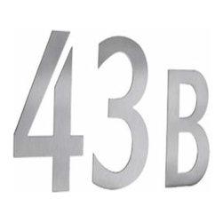 Smedbo - Smedbo Stainless Steel Mailbox Numbers, Self-Adhesive - Smedbo Stainless Steel Mailbox Numbers, Self-Adhesive