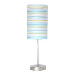 NOVA Lighting - Bohemian Youth Table Lamp - Teal Shade - Bohemian, Youth Table Lamp
