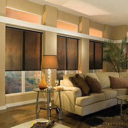 Comfortex Envision Roller Shades - When it's fabric that matters, Envision Roller Shades are the window treatment that you want! Offering both style and function, this line of roller shades gives you screens, fashion-forward prints and weaves, and the new environmentally-friendly EcoGreen line, just to name a few.