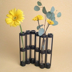 Danya B - 9 Inch Arrangable Six-Tube Hinged Glass Vase on Metal Stand - This gorgeous 9 Inch Arrangable Six-Tube Hinged Glass Vase on Metal Stand has the finest details and highest quality you will find anywhere! 9 Inch Arrangable Six-Tube Hinged Glass Vase on Metal Stand is truly remarkable.