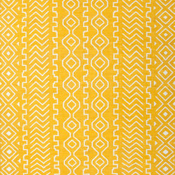 Jaipur Rugs - Flat Weave Tribal Pattern Gold /Yellow Wool Handmade Rug - UB19, 9x12 - A range of beautifully designed flat weaves in a stunning color palette. Hand woven from 100% wool, each rug has its own personality and is versatile and easy to use.