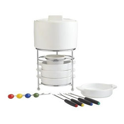 Fondue Set - A fondue pot is a must for a party. I love this simple design by Pier 1.