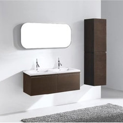 "Madeli - Madeli Venasca 48"" Double Bathroom Vanity for X-Stone Top - Walnut - Madeli brings together a team with 25 years of combined experience, the newest production technologies, and reliable availability of it's products. Featuring sleek sophisticated lines Madeli vanities are also created with contemporary finishes and materials. Some vanities also feature Blum soft-close hardware. Madeli also includes a Limited 1 Year Warranty on Glass Vessels, Basin, and Counter Tops. Features Two 24"" Units create this Two Drawer Vanity Soft-close drawer glides Walnut finishX-Stone with overflow for a single-hole faucetFaucet and drain are not included Matching medicine cabinet available Limited 1 Year Warranty on Glass Vessels, Basin, and Counter Tops How to handle your counter Spec Sheet for X-Stone Top"
