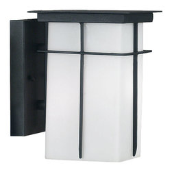 Kenroy Home - Kenroy 70000TB Mesa 1 Lt Sm Wall Lantern - Clean flat planes make this Neo-Mission styled lantern compatible with a wide range of decor.  Crafted metal fins create a simple design across a large bright shade surface.  Mesa uses energy efficient bulbs.