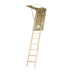"""Fakro - Fakro 10.1 ft. Wooden Attic Ladder - 66849 - Shop for Ladders from Hayneedle.com! 12-step attic ladder with patented door hinge corners Crafted from sturdy pinewood Adjusts from 7' 11"""" inches to 10' 1"""" inch in height Smooth paintable outside door surface Easy-to-grasp small side rails and non-slip treading ANSI certified Available in 4 unique sizes to choose from About Fakro A privately owned company established in Poland in 1991 FAKRO has grown into one of the most dynamic and fastest growing companies in the world with over a 15% share of the global market and 3 300 employees. Their extensive research and development center produces a wide variety of roof windows with unique design and functionality accessories and the very latest in solar collectors. Their emphasis on health safety security and environmental impact is unmatched. For an expansive range of top-of-the-line products for all imaginable applications look to FAKRO."""