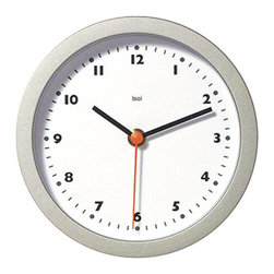 Bai Design - Moderna 6-Inch Studio Wall Clock - - Spray-painted ABS bezel   - Silkscreen-printed PVC dial  - Spray-painted metal hands   - Assembly not required   - Manufactured in China Bai Design - 815.MO
