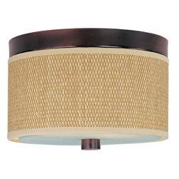 ET2 - ET2 E95100-101 Elements 2-Bulb Flush Mount Indoor Ceiling Fixture - Fabric Shade - Product Features: