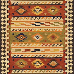 "Loloi Rugs - Loloi Rugs Isara Collection - Multi, 3'-6"" x 5'-6"" - The Isara Collection finds inspiration from antique Turkish and Persian kilims, updating the vintage looks for today. These reversible tribal and Southwestern looks maintain an antique, worn appearance, thanks to a meticulous coloring process. Made in India of 100% wool, Isara is a new classic for today."
