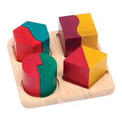 Guidecraft - Guidecraft Fraction Pairs - Guidecraft - Puzzles - G6706 - Explore fractions shapes and patterns with the Fraction Pairs. Eight chunky pieces perfect for little hands with a matching sorting tray. Develops fine- motor skills and hand-eye coordination. Made from eco-friendly rubberwood and stained with low VOC aniline dyes. Activity booklet included. Ages 2+.