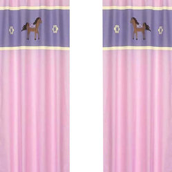 Pretty Pony Window Panels (Set of 2)