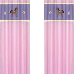 "Sweet Jojo Designs - Pretty Pony Window Panels (Set of 2) - Create a stylish look for your child's room with the Pretty Pony Window Panels (Set of 2). This set features 2 Window Panels that are 42"" x 84"" each."