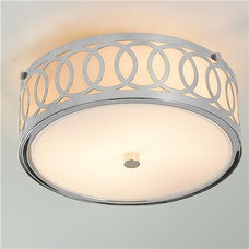 Small Interlocking Rings Flush Mount Ceiling Light - Shades of Light