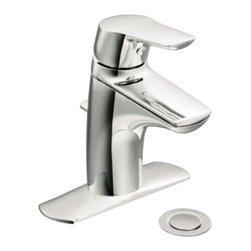 Moen - Moen 6810 Method Single Handle Low Arc Bathroom Faucet - The soft, modern styling of the Method series offers clean lines and a simple profile that contributes to the sleek, uncluttered look of any contemporary home.