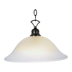 Premier - One Light Wellington 16 inch Pendant Fixture - Oil Rubbed Bronze - Premier 617232 Wellington Lighting Collection 1 Light Pendant, Oil Rubbed Bronze, 16in. W by 9-1/2in. H.