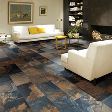 Contemporary Floor Tiles by Surface Art Inc