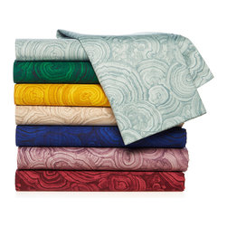Hutton Wilkinson Malachite 100 Percent Cotton 400 Thread Count Sheet Set - This 100 percent cotton sheet set brings a bold malachite pattern to the bedroom. Your room will never look boring with these sheets!