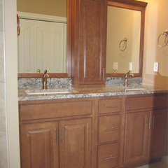 contemporary bathroom countertops by The Granite Shop