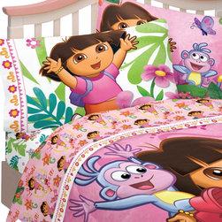 Franco Manufacturing Company Inc - Dora Explorer Run Skip Jump Full-Double Bed Sheets Set - Features:
