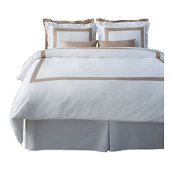 LaCozi Beige & White Duvet Cover Set