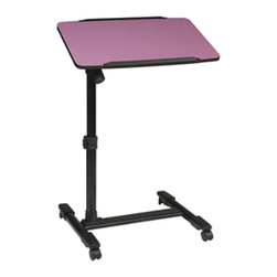 Office Star - Office Star Adjustable Top Mobile Laptop Cart in Purple - Office Star - Mobile Laptop Carts - LT733512 - Convenient and mobile this Office Star Products Mobile Laptop Cart features a height adjustable top and a powder coated steel frame. This cart comes with four wheeled casters and a locking tilt mechanism for the top tilt.