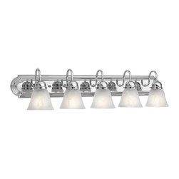 Kichler - Kichler No Family Association Bathroom Lighting Fixture in Chrome - Shown in picture: Kichler Bath 5Lt in Chrome