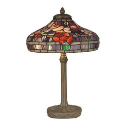 Dale Tiffany - Dale Tiffany TT10031 Victorian 2 Light Tiffany Table Lamp - Victorian 2 Light Tiffany Table Lamp with Art Glass ShadeFeatures: