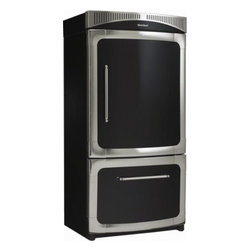 """Heartland - Classic Series 3115-00L-BLK 36"""" Counter-Depth 20 cu. ft. Bottom-Mounted Refriger - The Classic Collection offers fine craftsmanship detailing such as lustrous nickel trim and rich color options The Classic Collection is for those who simply want their kitchen to be the true heart of their home"""