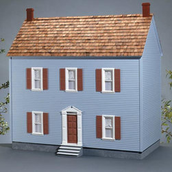 Real Good Toys - Real Good Toys Montpelier Dollhouse Kit - 1 Inch Scale - 1001-MM - Shop for Dollhouses and Dollhouse Furnishings from Hayneedle.com! The Real Good Toys Montpelier Dollhouse Kit - 1 Inch Scale resembles a grand estate from the Civil War era. This elegant 3-story masterpiece has been crafted from durable 0.375-in. MDF; it includes 10 impressive rooms with 9.438-inch floor-to-ceiling height making it perfect for gatherings of figurines. The New Concept Collection Staircase and other exceptional details reflect the uncompromising craftsmanship that went into the creation of this model. It features pre-assembled windows and doors moveable room dividers wooden shingles and sturdy 0.375-inch exterior walls and grooved sidewalls. Recommended supplies include a hammer glue masking tape sandpaper paint brushes ruler and brads. This exquisite kit is suitable for use by collectors. As it includes small pieces it's not recommended for children under the age of three. About Real Good ToysBased in Barre Vt. Real Good Toys has been hand-crafting miniature homes since 1973. By designing and engineering the world's best and easiest to assemble miniature homes Real Good Toys makes dreams come true. Their commitment to exceptional detail the highest level of quality and ease of assembly make them one of the most recommended names in dollhouses. Real Good dollhouses make priceless gifts to pass on to your children and your children's children for years to come.