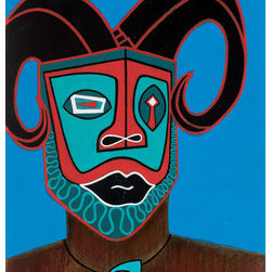 Mars In Aries (Original) by Mark Harris - This is a rendition of the mythological cultural hero Chbinda Ilunga; royal ancestor of the Chokwe people of Central Africa. According to legend he introduced the art of hunting and divine kingship. I became interested in this figure in 2003 after losing my father to cancer. In many African traditions fetishes were carved to represent the spirits and memories of loved ones who transitioned to the afterlife. This rendition is the fifth in an ongoing series. These works have a strong healing and comforting presence.