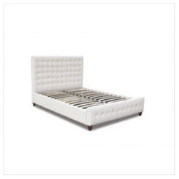 Zen Bonded Leather Tufted Bed - The Zen Tufted Leather Bed offers a sleek, sophisticated and stylish addition to your bedroom. Featuring the popular platform bed design, this high profile tufted bonded leather headboard, side rails and tufted recessed footboard adds a chic vibe to your space.