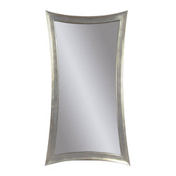 Silver Leaf Rectangle Wall Mirror