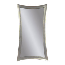 Bassett Mirror - Silver Leaf Rectangle Wall Mirror - Silver Leaf Finish - Rectangle. Measures: 36 in. W x 48 in. H.