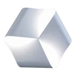 """Nemo Italianaluce - Nemo Italianaluce Endless Wall Sconce - The Endless wall sconce was designed by Jehs + Laub for Nemo Italianaluce. It is manufactured with one single ribbon of metal that is wound together in a soft cube like fashion. The three lights affixed to the interior corners plays with the shadows to offer a gentle dance of diffused of light.   Product Details:  The Endless wall sconce was designed by Jehs + Laub for Nemo Italianaluce. It is manufactured with one single ribbon of metal that is wound together in a soft cube like fashion. The three lights affixed to the interior corners plays with the shadows to offer a gentle dance of diffused of light.  Details:                         Manufacturer:             Nemo Italianaluce                            Designer:                        Jehs + Laub                                         Made in:                        Italy                                         Dimensions:                         Height: 13"""""""" (33 cm) X              Width: 13.7"""" (35 cm) Depth: 2.7""""(7cm)                                          Light bulb:                         3 x 60W G9 halogen                                         Material:             Metal"""