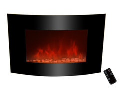 GOLDEN VANTAGE - GV 36-inch Electric Fireplace Wall Mount Style W/Pebble And Led Backlight - Our electric powered fireplaces give off a simulated flame ambience without the danger associated with real fire, or the inconvenience of soot or smoke.These products come in many different designs to complement your existing style.You can also choose heat or ambient modes depending on your mood, 3D realistic design and 3 color led backlights.