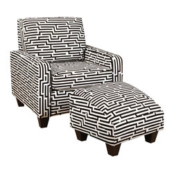 Chelsea Home Furniture - Chelsea Home Patrick 2-Piece Living Room Set in Zigzag White - Patrick 2-Piece living room set in Zigzag White belongs to Verona III collection by Chelsea Home Furniture