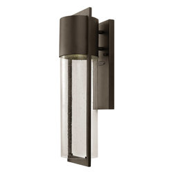 Hinkley - Dwell 1-Light Outdoor Wall-Mount Light, Buckeye Bronze - This 1-Light Dwell Outdoor Wall Mount finished in Buckeye Bronze and complemented in a White Glass by Hinkley enhances your home with a fresh new look that's sure to please