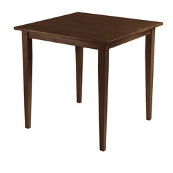 Winsome Wood - Winsome Wood Groveland Square Dining Table - Shaker Leg - Antique Walnut Finish - Square Dining Table - Shaker Leg - Antique Walnut Finish belongs to Groveland Collection by Winsome Wood Rich, warm and inviting describe this square Shaker-style dining table. With slightly tapered legs, the classic design combines a look that will go well with many decors and is an ideal size for a kitchen eating area or small dining room Dinning Table (1)