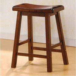 "Aloha 24"" Stool in Dark Walnut (Set of 2)"